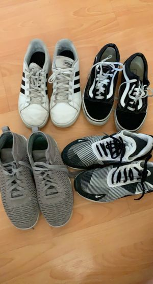 4 shoes, fairly good condition, Jordan , Nike, adidas, vans for Sale in Newark, CA