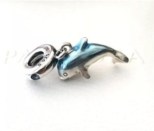 Pandora Shimmering Dolphin, Dangle Charm #798947C01 +FREE Pandora Gift Box +Tag for Sale in Fontana, CA