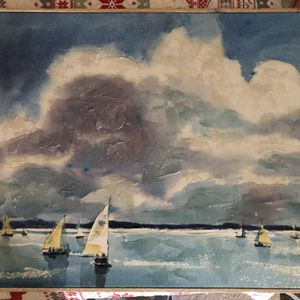 Canvas Sailboat Picture for Sale in Tavares, FL