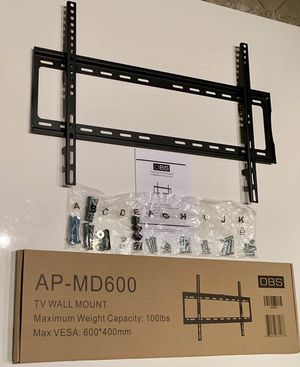 "New universal 32 to 65 inch LCD LED Plasma Flat Fixed TV Wall Mount stand 32 37"" 40"" 42 46"" 47 50"" 52 55"" 60 65"" inch tv television bracket 100lbs ca for Sale in Covina, CA"