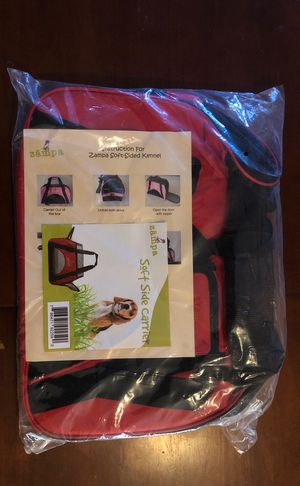 Brand New never opened Zampa Soft-Sided Kennel bag , fit to hold items for your dog when on the go for Sale in Philadelphia, PA