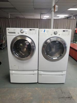 Lg gas dryer washer and pedestals for Sale in Aurora, IL