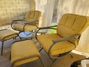 Sunbrella patio rockers and ottomans for Sale in Phoenix, AZ