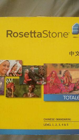 Rosetta Stone chinese mandarin level1-5 for Sale in San Leandro, CA