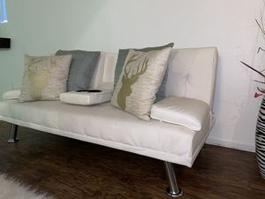 White Futon Couch for Sale in Las Vegas, NV
