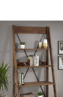 New Welwick Designs 68in Bookcase 4 Shelf Ladder, Retail$142!!!-$72 for Sale in Chicago,  IL