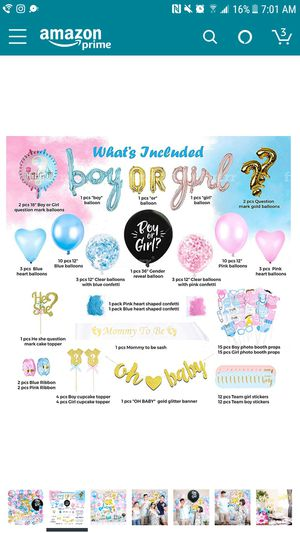 Gender Reveal Party Decor for Sale in BROOKSIDE VL, TX