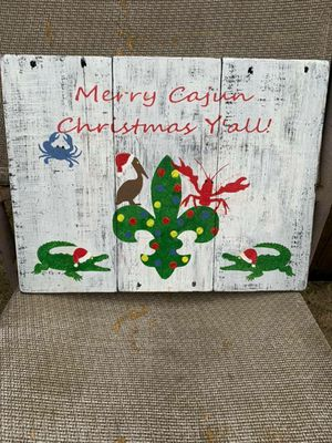 Rustic handmade Cajun Christmas sign for Sale in Lake Charles, LA
