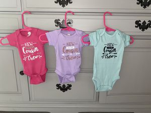 New to the cousin crew onesies size newborn for Sale in Le Raysville, PA