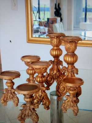 Gilt Candle Holders for Sale in West Palm Beach, FL