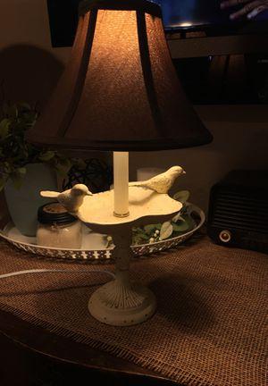 Beautiful Metal Bird Lamp for Sale in Tenino, WA