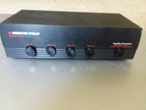 Monster cable amplifier protection Speaker selector 4 way for Sale in Hyattsville, MD