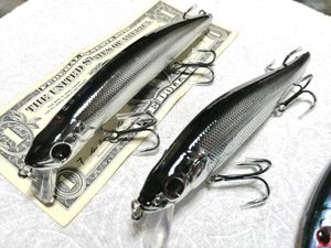 X4 BIG BASS LURES 4 fishing casting JERKBAITS calico lmb halibut shore jetty boat blue salt fresh water rods flounder for Sale in Garden Grove, CA