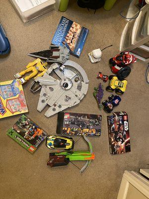 Toys starwars nerf gun robots remote control cars LEGO Minecraft backgammon Star Trek for Sale in Arcadia, CA