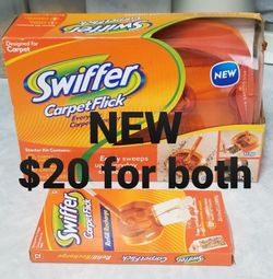 NEW Swiffer Carpet Flick & 12pk of Refills for Sale in Portland,  OR