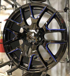"SUPER DEAL! New 18"" Gloss Black Blue XXV Rims Wheels 18x8 Sentra Versa Civic Accord for Sale in Tampa, FL"