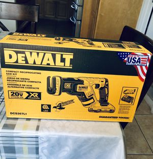 DeWalt 20vMax XR Compact Reciprocating Saw Kit for Sale in Irwindale, CA