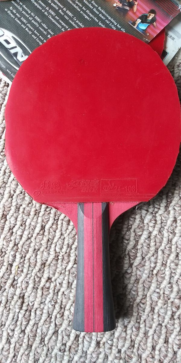 🏓Custom Pro Level Ping Pong Table Tennis Racket: Huaruite Blade with Super 729 and Hurricane Rubber 🏓