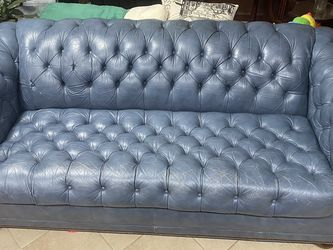 Blue Leather Sofa For Sale for Sale in Alton,  IL