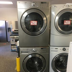 LG FRONT LOAD WASHER AND DRYER SET WITH WARRANTY for Sale in Laurel, MD