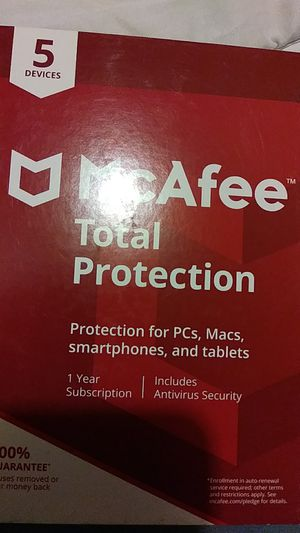 McAfee Total Protection 5 devices for Sale in Spokane, WA