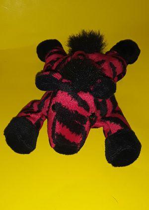 RED STRIPED ZEBRA PLUSHIE for Sale in North Port, FL