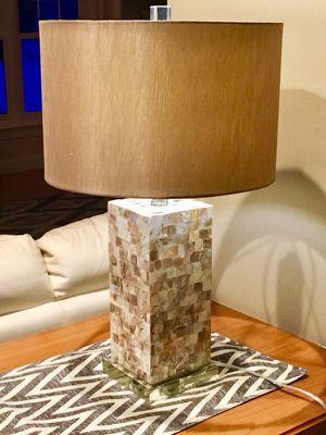 Modern lamp and lamp shade for Sale in Framingham, MA