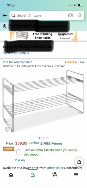 Whitmor Stackable Closet Shelves for Sale in Queens, NY