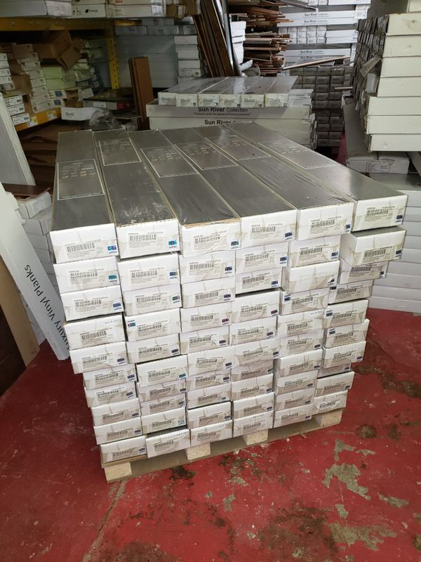 8mm dark laminate flooring with pad attached