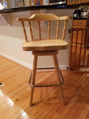Set of 4 Wood Swivel Barstools for Sale in Centreville, VA