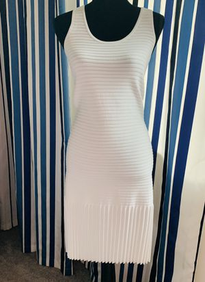 Michael Kors Dress Stretch- Knit With Pleated Skirt White Summer Size M for Sale in Boca Raton, FL
