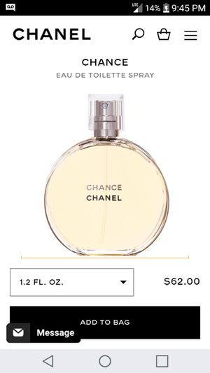 CHANEL CHANCE PERFUME for Sale in Tacoma, WA