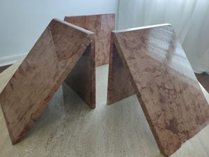 Set of 3 Marble Table bases for Sale in Boca Raton, FL