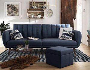 Multi position navy futon sofa for Sale in Kirkland, WA