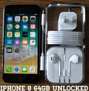 Iphone 8 (64GB) Factory-UNLOCKED + Accessories for Sale in Falls Church, VA