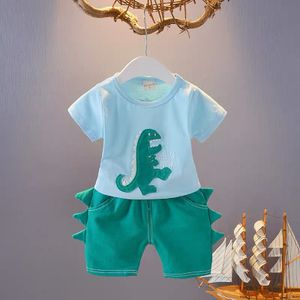 Kids Toddler set cloth T shirt shorts dinosaur green blue for Sale in Lynnwood, WA