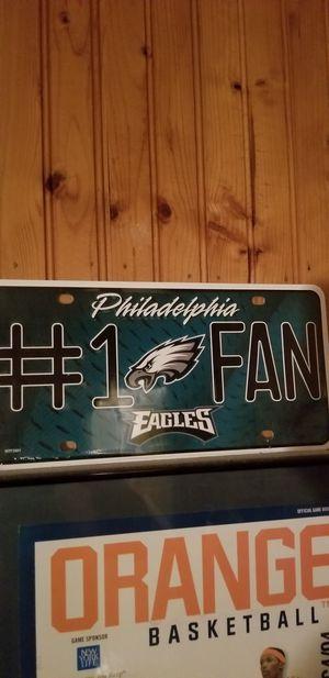 Eagles license plate for Sale, used for sale  Princeton, NJ