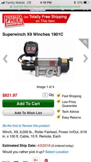 X9 super winch for Sale in North Smithfield, RI