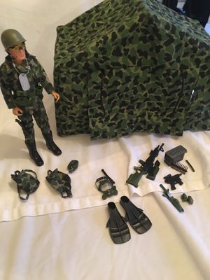 """GI Joe 12"""" Action Figure with tent $50 for Sale in Toms River, NJ"""
