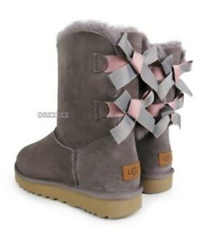 women's size 11 ugg boots bailey bow II stormy grey for Sale in Arlington, TX