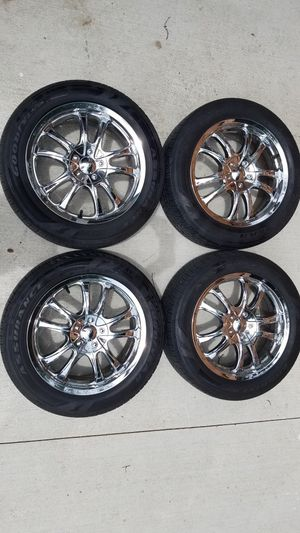 Chevy Malibu Tires and Chrome Rims for Sale in Parma, OH