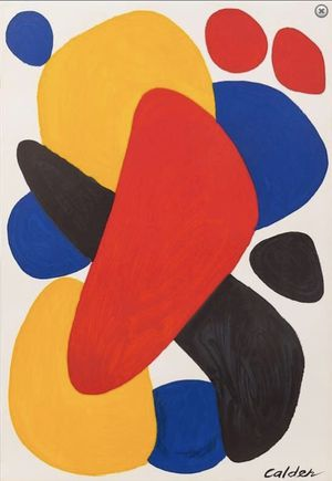 Calder Boomerang Lithograph art unframed for Sale in Chicago, IL