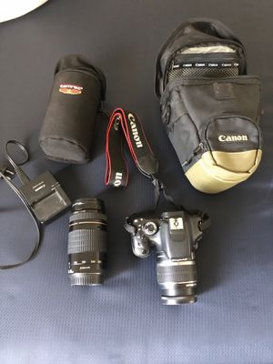 Canon t2i w/ 2 lenses for Sale in Laguna Beach, CA