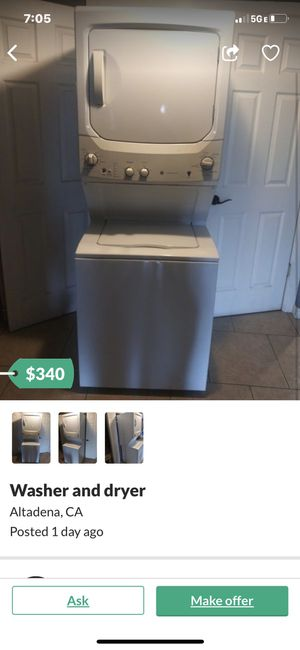 240v electric washer /dryer for Sale in Alhambra, CA