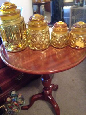 Amber glass storage containers for Sale in Winston-Salem, NC