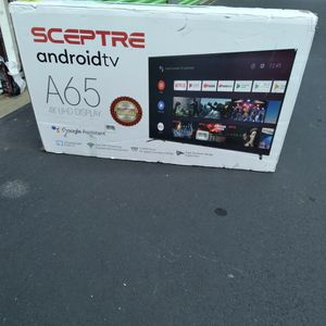 "-FIRM PRICE NON NEGOTIABLE- 65"" In. Sceptre 4k Android Smart Tv for Sale in Stockbridge, GA"