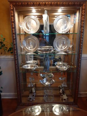 Display Curio China Cabinet (5 glass shelves with side doors) size: 50 inches wide x 80 inches tall x 13 inches deep for Sale in Mount Rainier, MD