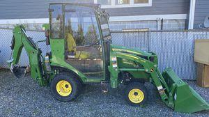 Deere 1025r Tractor w/loader, backhoe & cab for Sale in Bonney Lake, WA