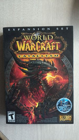 World of Warcraft (WOW) Cataclysm Expansion Set PC Windows/MAC New for Sale in North Royalton, OH