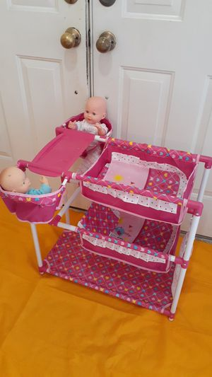Hauct for doll with 2 baby doll for Sale in Hialeah, FL
